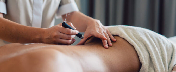 Moxibustion with moxa technique